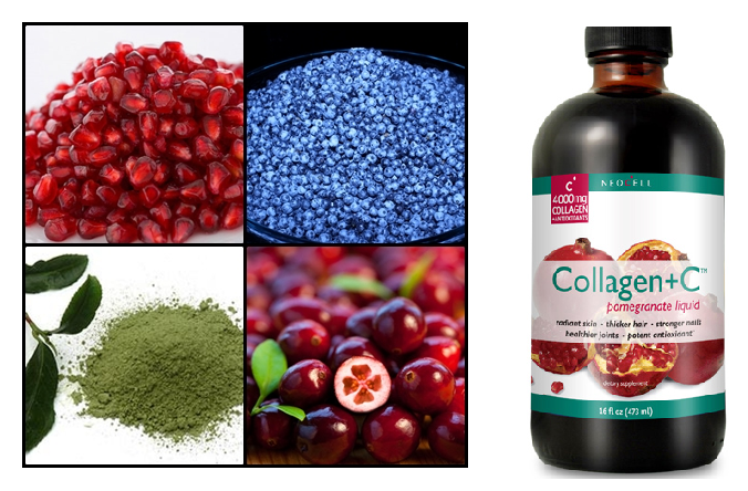 Collagen lựu - Neocell Collagen + C Pomegranate Liquid 16 oz