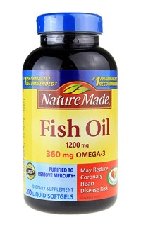 Dầu cá Nature Made-Fish oil Nature Made 1200mg hộp 200 viên